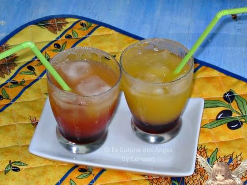 Recette de Cocktail sans alcool au jus d'orange et au sirop de grenadine