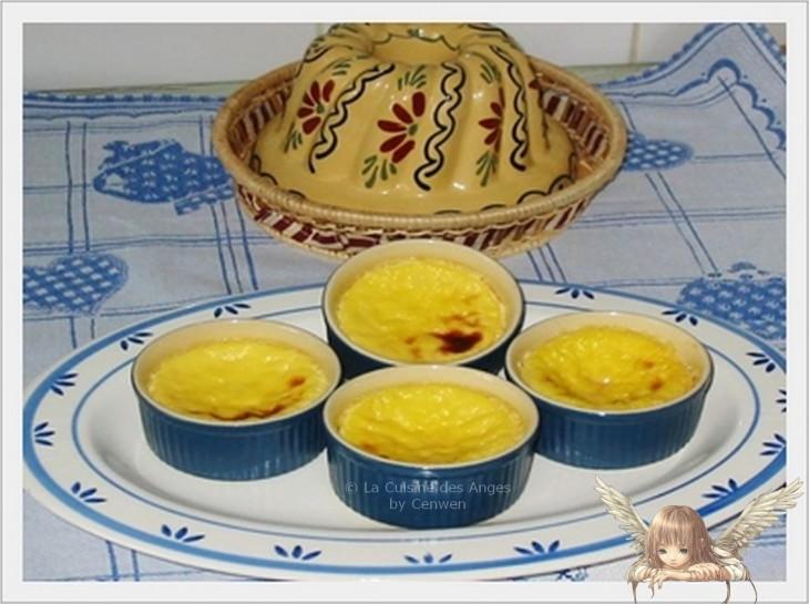 recette de petites crèmes aux oeufs cuites au four