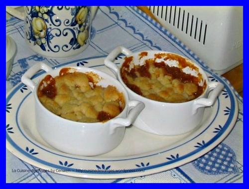 Recette de dessert, crumble aux pommes, facile et gourmand