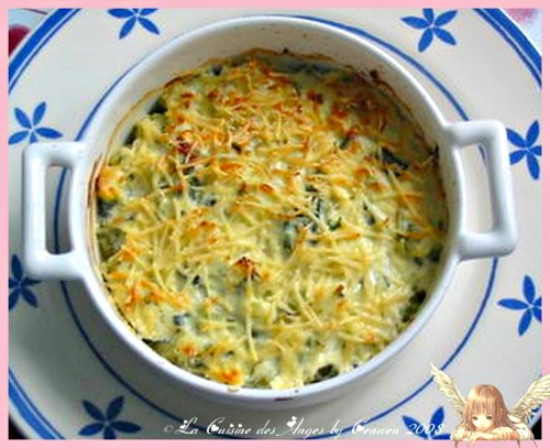 recette de gratin de courgettes avec du fromage blanc et du gruyère