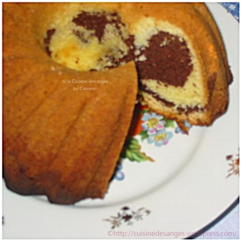 recette classique du gâteau marbré à la vanille et au cacao