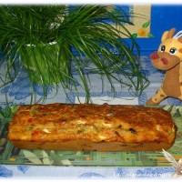 Cake aux Poivrons, Thon, Féta et Olives Noires