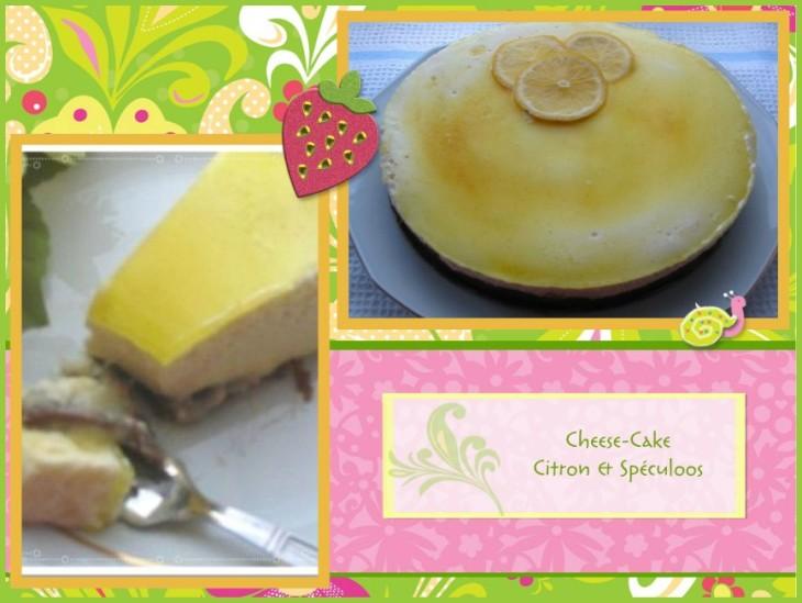 recette de cheese cake sans cuisson, au citron, lemon curd et spéculoos