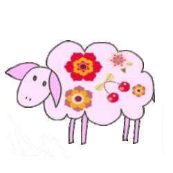 dessin de mouton rose