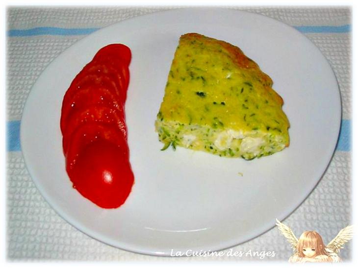 recette de clafoutis salé à la fêta et aux corugettes
