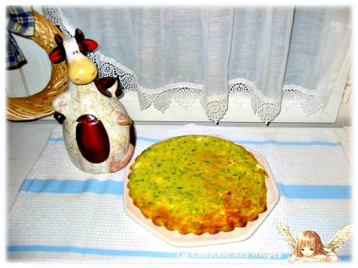 recette de clafoutis salé aux courgettes et à la féta