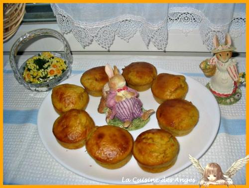recette de mufffins à la carotte et à la cannelle