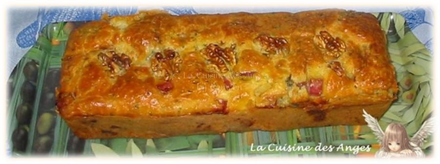 Cake d'Automne au Roquefort, Jambon etNoix
