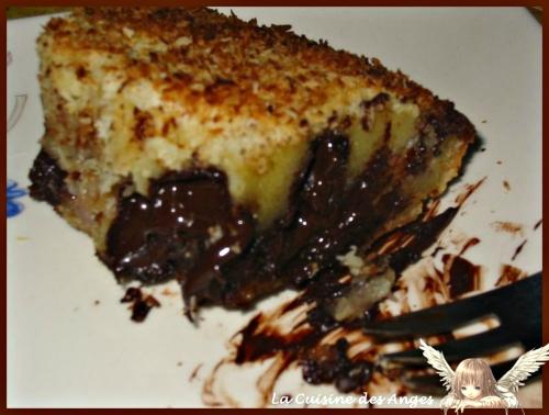 Recette économique de dessert, clafoutis au chocolat et à la banane