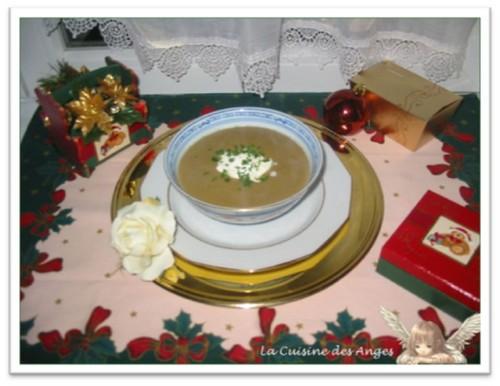 recette de velouté de champignons de paris frais