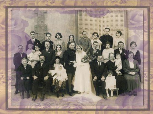 Photo de famille, photo de mariage