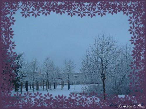 Ville de La Verriere 78 sous la neige via La Cuisine des Anges