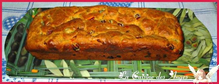 Recette économique de Cake salé au Jambon, Olives Vertes et Piment