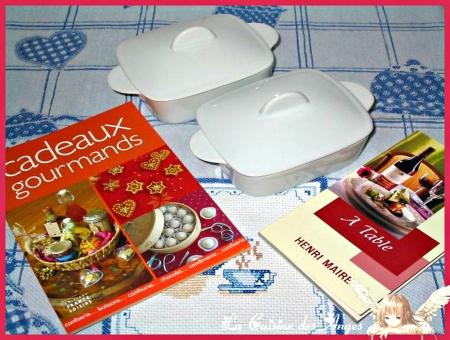 Petits Livres Gourmands et Cassolettes Rectangulaires en porcelaine blanche