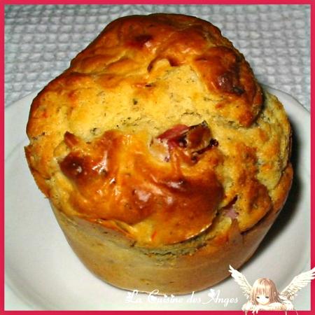 recette de muffins salés au jambon, avec des olives et des piments