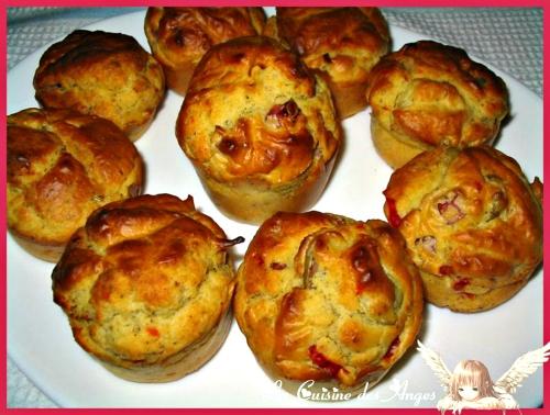 Recette économique de muffins salés au jambon, olives et piment