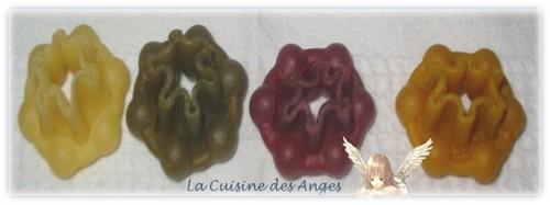 Pâtes multicolores