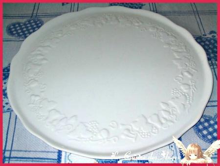 Plat à Tarte en porcelaine blanche