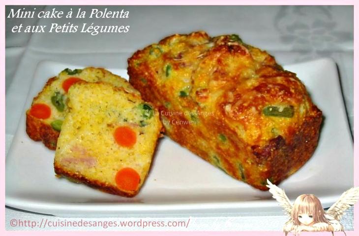 Recette économique de cake salé à base de polenta et de légumes surgelés