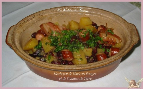 recette de plat mijoté à base de haricots rouges, pommes de terre, lard et saucisses