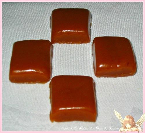 Recette de caramels, bonbons faits maison, à la crème et au miel