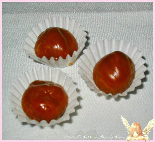 Caramels maison, à la crème et au miel, en version bonbons ronds