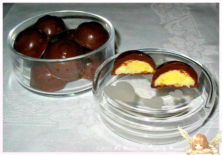 recette de chocolats faits maison, fourrés d'une ganache au chocolat blanc et abricots secs