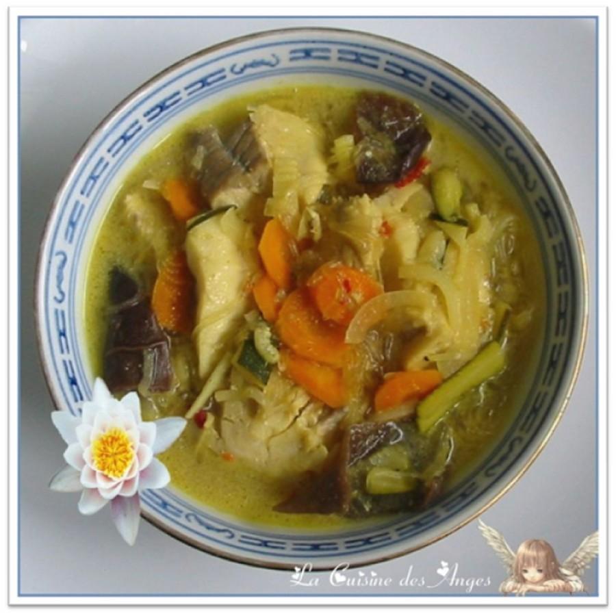 Soupe de Poisson au Curry et Lait deCoco