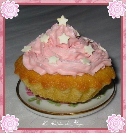 recette de cupcakes vanille et barbapapa