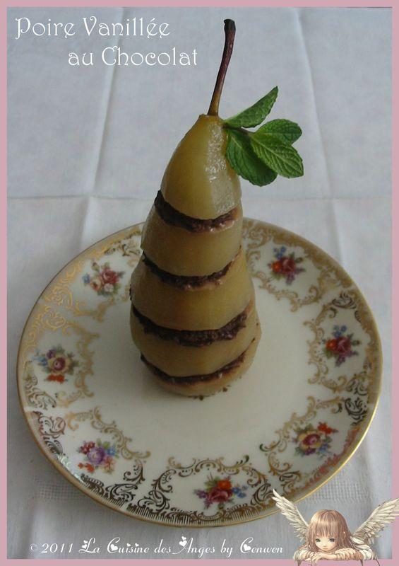 poires vanill es au chocolat la cuisine des anges. Black Bedroom Furniture Sets. Home Design Ideas