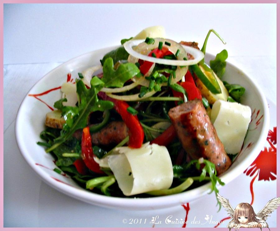 Salade Folle de Roquette etChipolatas