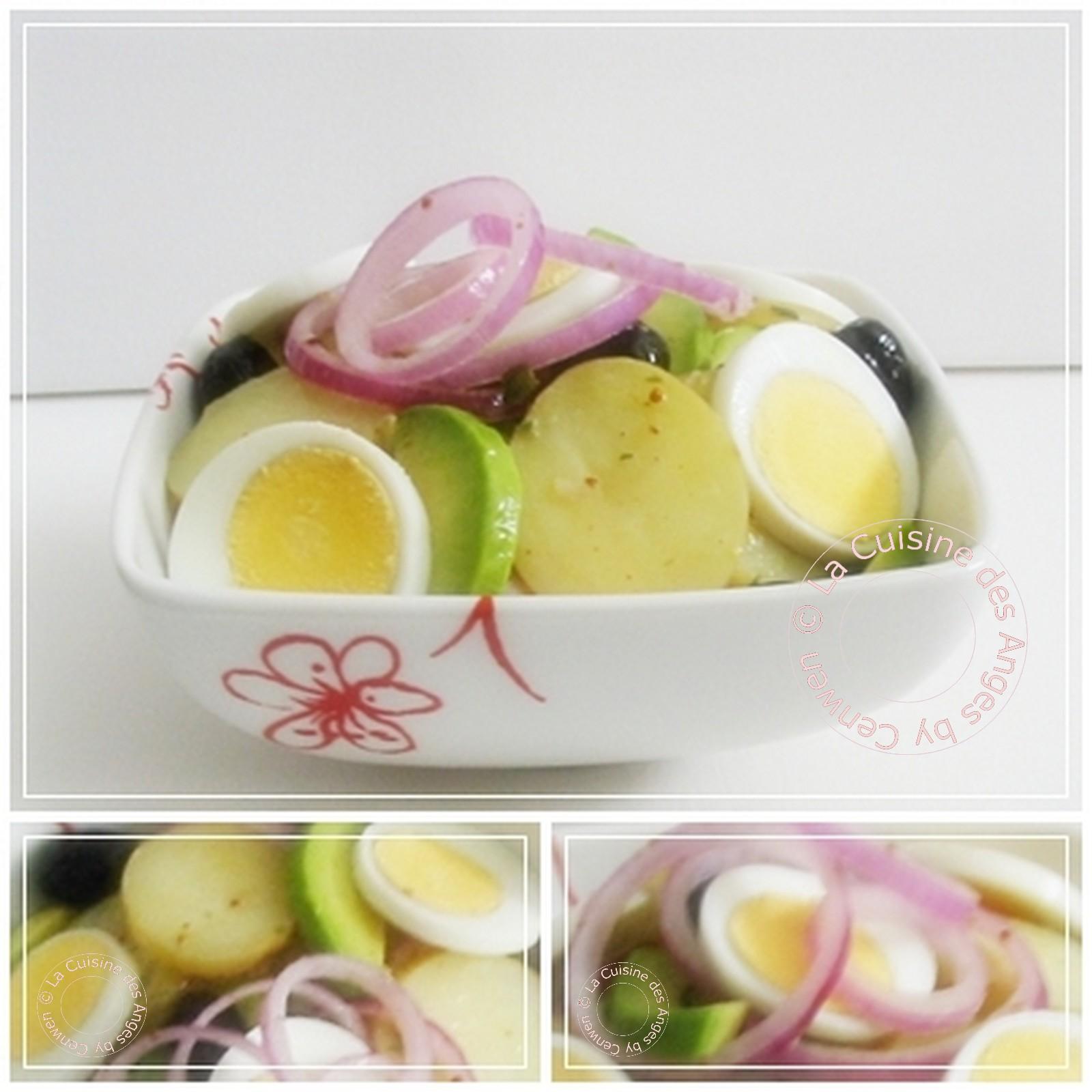 Salade de pommes de terre et d avocats la cuisine des anges - Recette avec oeuf dur ...