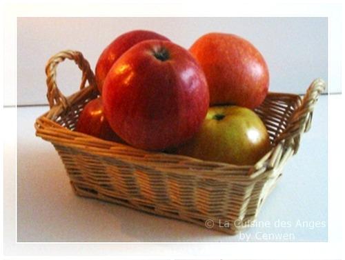 Petite corbeille de pommes rouges