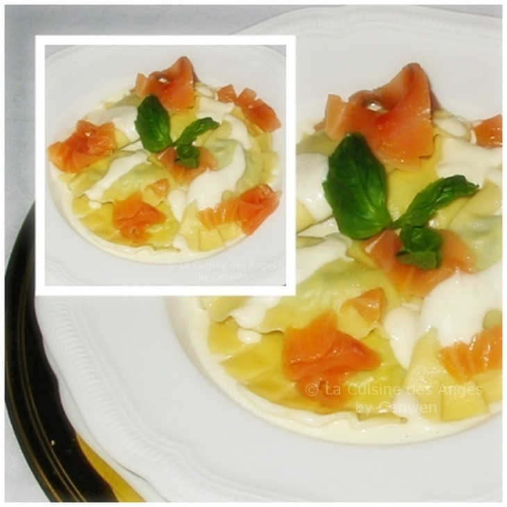 recette de pâtes maison fourrées au saumon