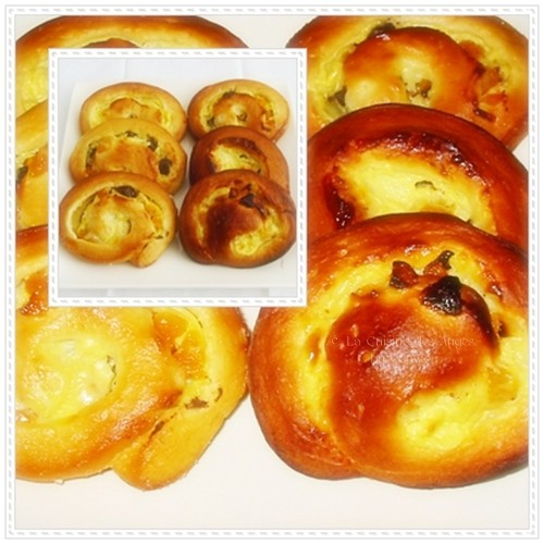 Recette de brioche façonnée en escargots aussi appelée roulés fourrés avec une crème pâtissière parfumée à l'amande