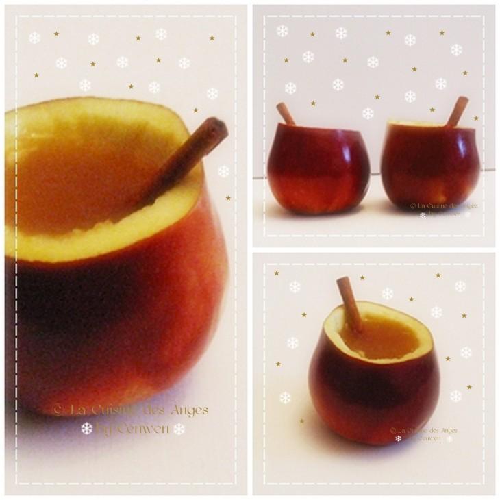 Recette d'hiver de jus de pommes chaud aux épices