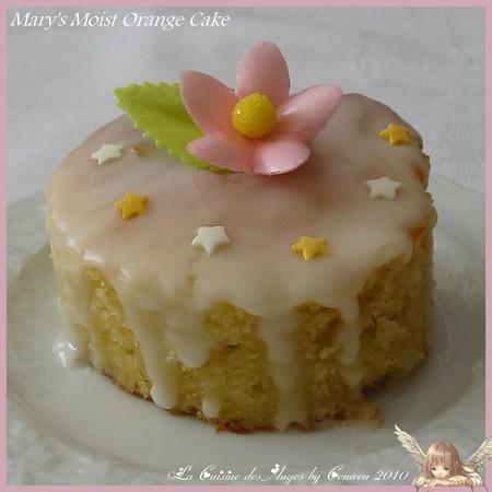 Recette de gâteau à l'orange fondant et moelleux surmonté d'un glaçage au sucre et à l'orange