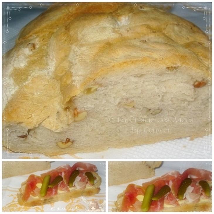 Recette de pain de seigle aux noix