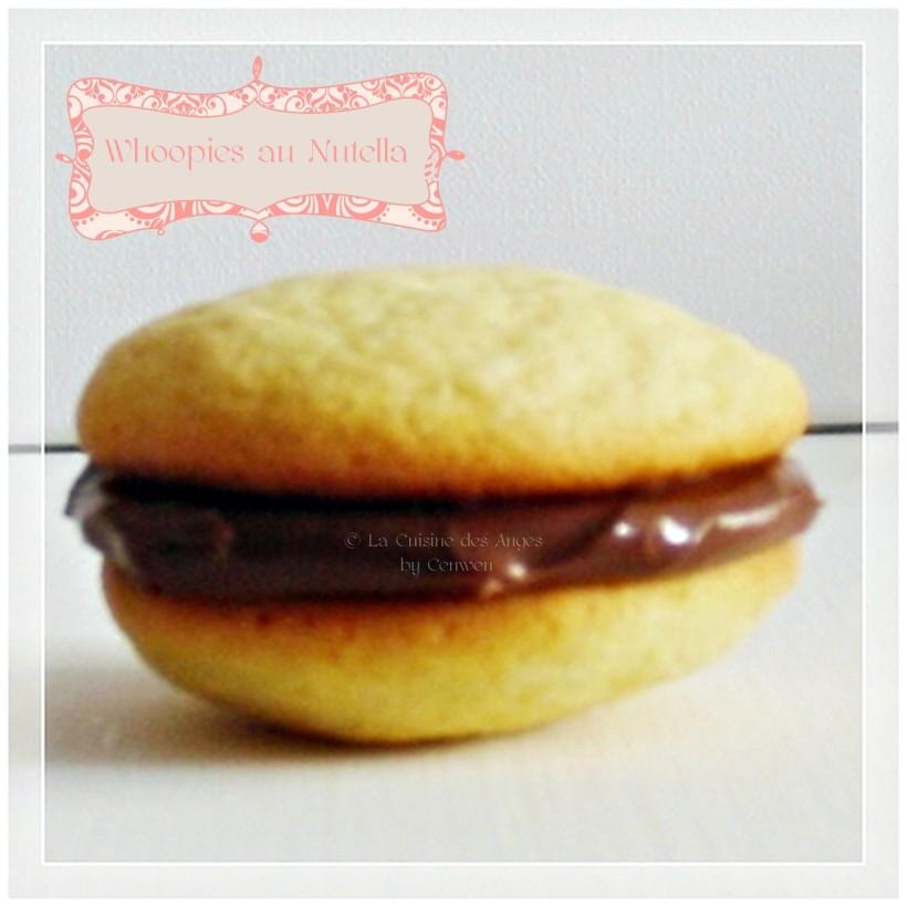 Recette de petits gâteaux Whoopies fourrés au Nutella
