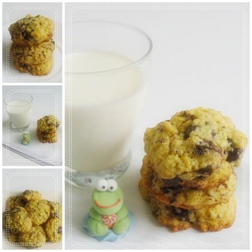 Recette de cookies aux pépites de chocolat noir et aux zestes d'oranges bio