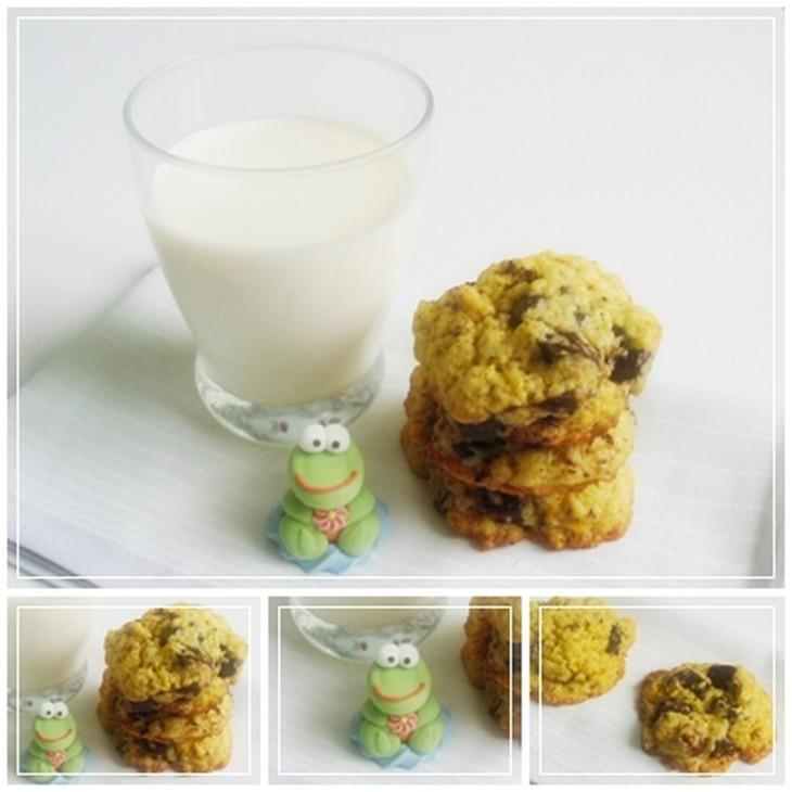 recette de cookies aux zestes d'oranges bio et aux pépites de chocolat noir