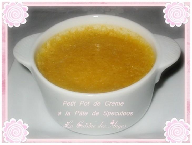 recette de crème prise au four, recette à base d'oeufs, de crème et de pâte de spéculoos