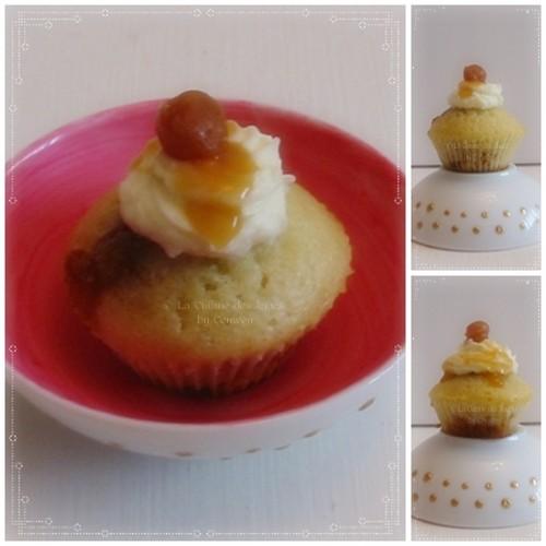 Recette de min i muffins en forme de cœur, fourrés avec des mini carambars, crème de caramel au beurre salé et perles de caramel au beurre salé