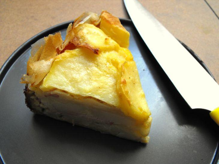 Gâteau crousti-fondant de pommes de terre et de bacon