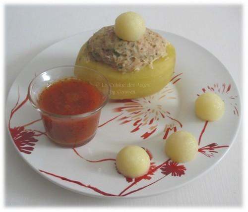 Recette de Pommes de terre farcies au Jambon, cuisiner avec un petit budget, recette de cuisine pas chère