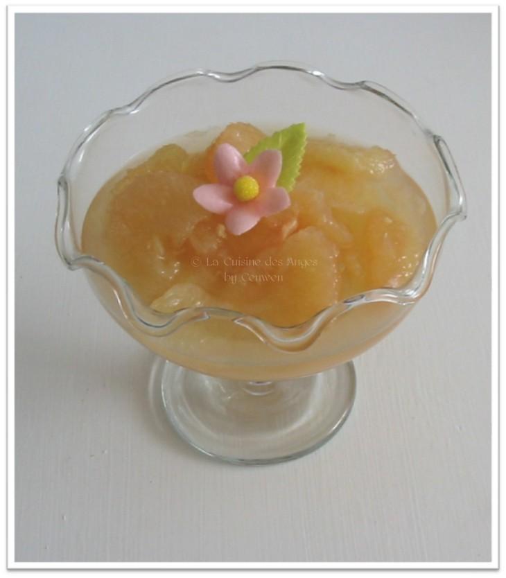 recette de Soupe Glacée de Pamplemousses Roses au Gingembre