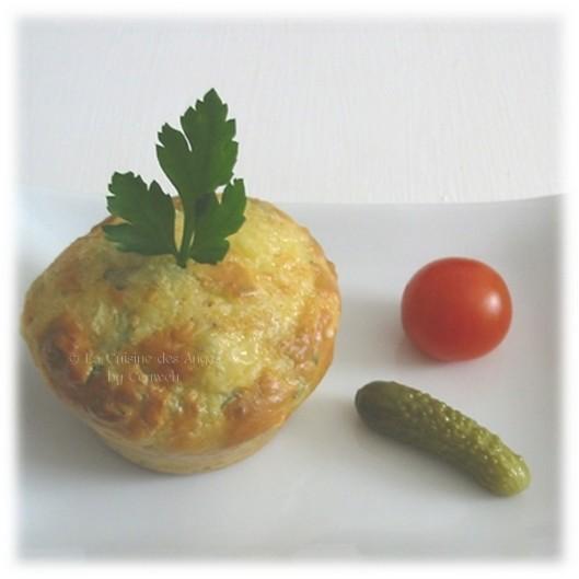 recette de gâteau ou muffin salé au fromage et jambon, recette de cuisine petit budget
