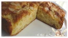 Recette économique et gourmande de gâteau moelleux aux pommes et aux amandes es