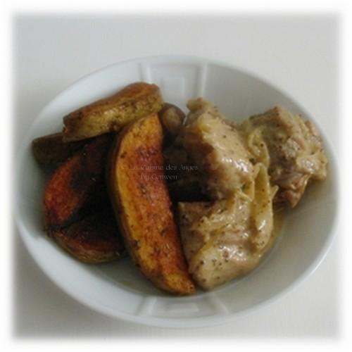 recette de Sauté de Porc à la Moutarde au Cognac et Conutry Potatoes, plat, viande