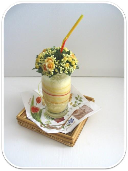recette de Milk Shake Mangue, Banane et Glace à la Vanille